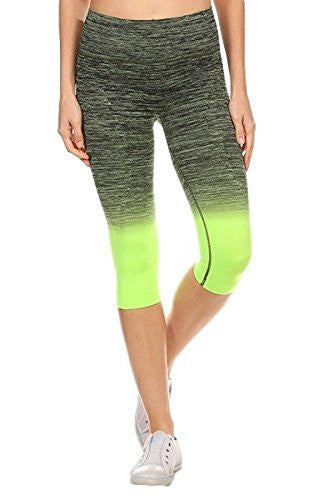 Ombre Activewear Yoga Leggings Knee-Length