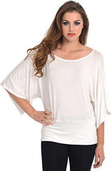 Kimono Off-Shoulder Tee T-shirt Top - PacificPlex - 64