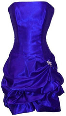 Strapless Satin Bubble Dress Prom Formal Holiday Party Cocktail Gown Bridesmaid - PacificPlex