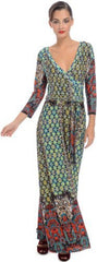Moroccan Jersey Wrap Maxi Dress - PacificPlex