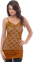 Sheer Extra Long Lace Cami w/ Adjustable Straps - PacificPlex