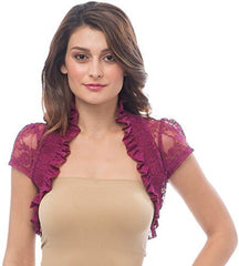 Sheer Lace Bolero Jacket Top - PacificPlex