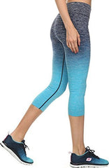 Ombre Activewear Yoga Capri Leggings - PacificPlex
