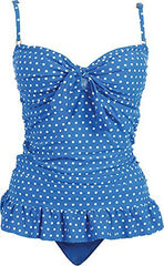 Polka Dot Ruffle Tankini Swimsuit Bathing Suit SET - PacificPlex