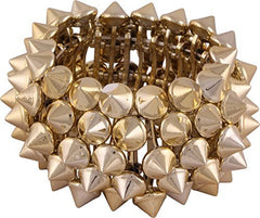 Spike Stud Stretch Metal Cuff Bracelet