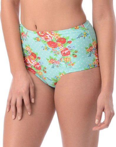 Pinup Highwaisted Swimsuit Brief