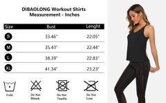 DIBAOLONG Womens Sexy Open Back Workout Tops Yoga Shirts Summer Workout Clothes - PacificPlex