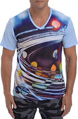 Mens Traffic Sublimation T-Shirt Graphic Tee
