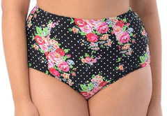 Pinup Highwaisted Swimsuit Brief - PacificPlex