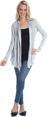 Semi-sheer Cardigan Cover-up with Pockets