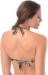 Animal Print Halter Swimsuit Top - PacificPlex