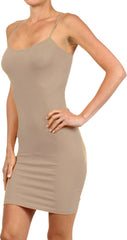 Seamless Solid Dress Spaghetti Straps - PacificPlex - 47