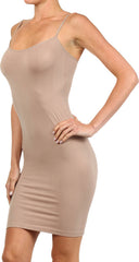 Seamless Solid Dress Spaghetti Straps - PacificPlex - 48