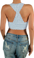 Lace Racerback Bralette Crop Top