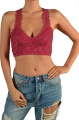 Lace Racerback Bralette Crop Top - PacificPlex