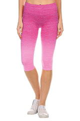 Ombre Activewear Yoga Leggings Knee-Length - PacificPlex