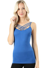 Lattice Front Seamless Cami Top - PacificPlex