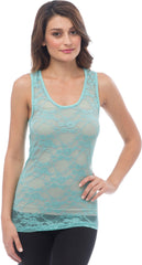 Sheer Nylon Lace Racerback Tank Top - More Colors - PacificPlex - 39