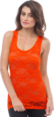 Sheer Nylon Lace Racerback Tank Top - PacificPlex - 43