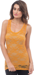 Sheer Nylon Lace Racerback Tank Top - PacificPlex - 45