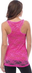 Sheer Nylon Lace Racerback Tank Top - More Colors - PacificPlex - 48
