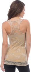 Sheer Nylon Lace Racerback Tank Top - PacificPlex - 52