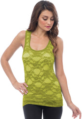 Sheer Nylon Lace Racerback Tank Top - More Colors - PacificPlex - 59