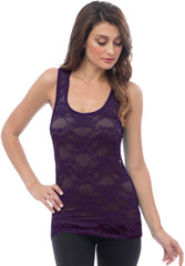 Sheer Nylon Lace Racerback Tank Top - More Colors - PacificPlex - 65