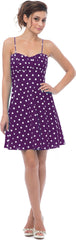 50's Retro Rockabilly Polkadot Dress Sundress - PacificPlex