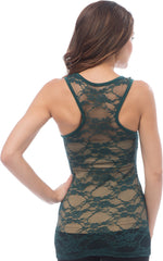 Sheer Nylon Lace Racerback Tank Top - PacificPlex - 11