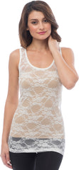 Sheer Nylon Lace Racerback Tank Top - PacificPlex - 14