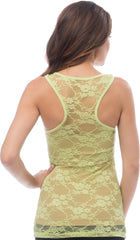 Sheer Nylon Lace Racerback Tank Top - PacificPlex - 15