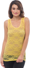 Sheer Nylon Lace Racerback Tank Top - PacificPlex - 22