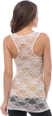 Sheer Nylon Lace Racerback Tank Top - More Colors - PacificPlex - 34