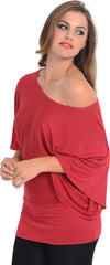 Kimono Off-Shoulder Tee T-shirt Top - PacificPlex - 72