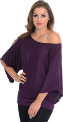 Kimono Off-Shoulder Tee T-shirt Top - PacificPlex - 78