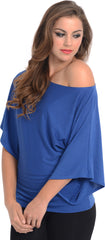 Kimono Off-Shoulder Tee T-shirt Top - PacificPlex - 82