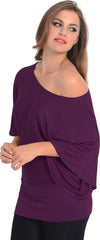 Kimono Off-Shoulder Tee T-shirt Top - PacificPlex - 86