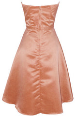 50s Strapless Satin Bridesmaid Bridesmaid Dress Homecoming - PacificPlex