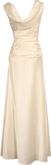 Cowl-Back Satin Long Prom Dress Crystal Pin - PacificPlex