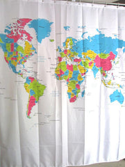 Super Deal New Creative Stylish World Map Bath Shower Curtain fabric shower curtain rideau de douche  XT - PacificPlex