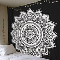 Lotus Wall Hanging Decor Tapestry Bedspread Beach Throw Blanket 59 in. Square - PacificPlex