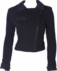 Cotton Knit Motorcycle Jacket - PacificPlex
