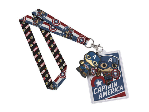 Captain America Lanyard ID Badge Holder