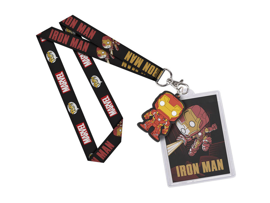 Iron Man Lanyard ID Badge Holder