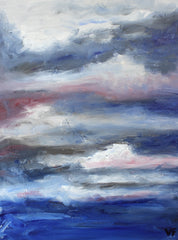 catharsis, oil on canvas, abstract art, cloud painting, melbourne art for sale, state of being alphabet