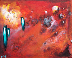 textured art, abstract art, red painting, melbourne abstract art, melbourne art,