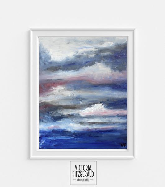 Limited Edition Abstract Art Print 'catharsis' - State of Being Alphabet Series - vfitzartist  - 1
