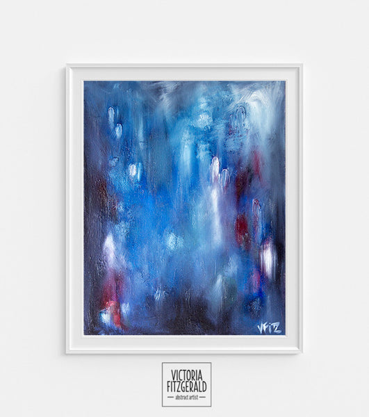 Limited Edition Abstract Art Print 'kismet' - State of Being Alphabet Series - vfitzartist