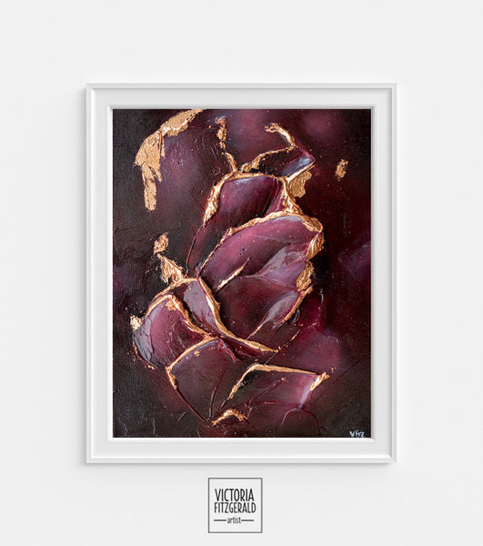 Limited Edition Abstract Art Print 'nascent' - State of Being Alphabet Series - vfitzartist